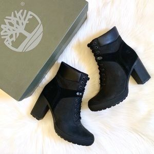 Timberland Black Camdale Field Lace Ankle Boots